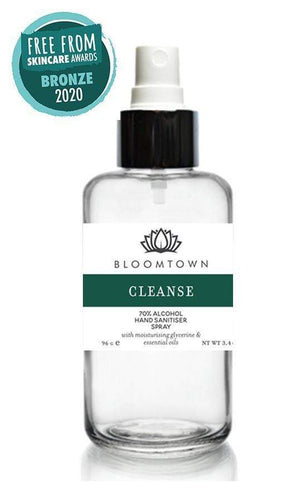 Bloomtown All Products Natural & Organic Hand Sanitiser 70% Alcohol (100ml)