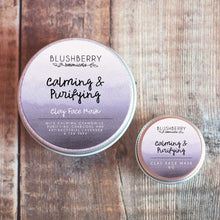 Load image into Gallery viewer, Blushberry Botanicals All Products Mini Calming & Purifying Clay Face Mask 6g
