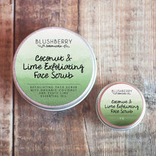 Load image into Gallery viewer, Blushberry Botanicals All Products Mini Coconut & Lime Exfoliating Face Scrub 7g