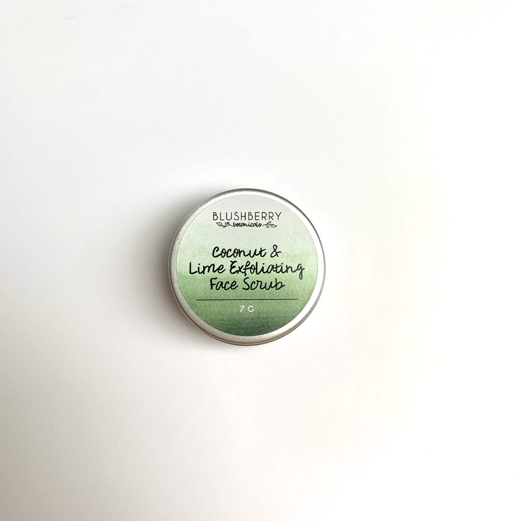 Blushberry Botanicals All Products Mini Coconut & Lime Exfoliating Face Scrub 7g