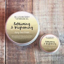 Load image into Gallery viewer, Blushberry Botanicals All Products Mini Exfoliating & Brightening Clay Face Mask 6g