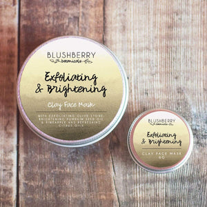Blushberry Botanicals All Products Mini Exfoliating & Brightening Clay Face Mask 6g