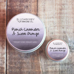 Blushberry Botanicals All Products Mini French Lavender & Sweet Orange Hand Cream 15ml