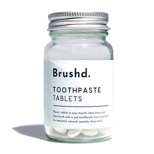 Brushd. All Products Jar Toothpaste Tablets with Fluoride (124 Tablets)