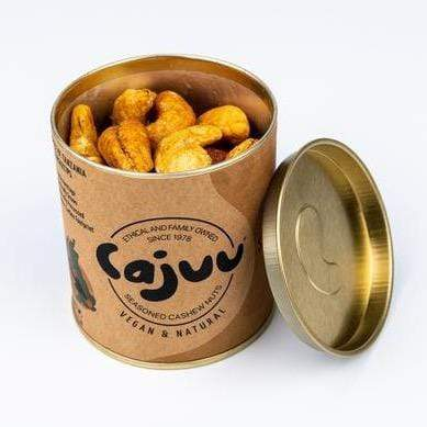 Cajuu All Products Vanilla & Salted Caramel Cashew Nuts in Tube
