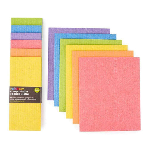 Eco Living All Products Compostable Sponge Cleaning Cloths (x6)