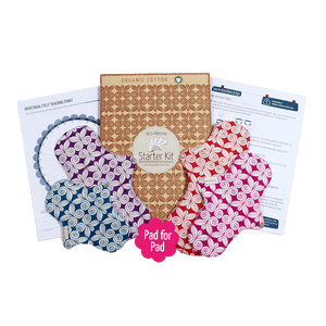 EcoFemme All Products 4 Pack Cloth Pad Starter Kit