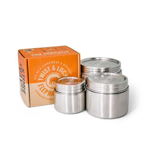 Elephant Box All Products Leakproof Food Canister Trio