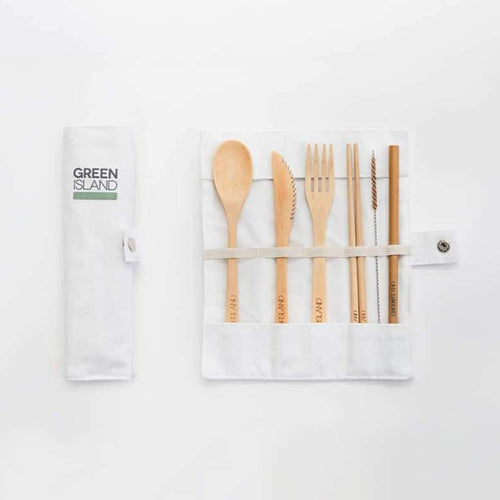 Green Island All Products Bamboo Cutlery Set