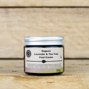 Heavenly Organics All Products Organic Lavender and Tea Tree Foot Cream