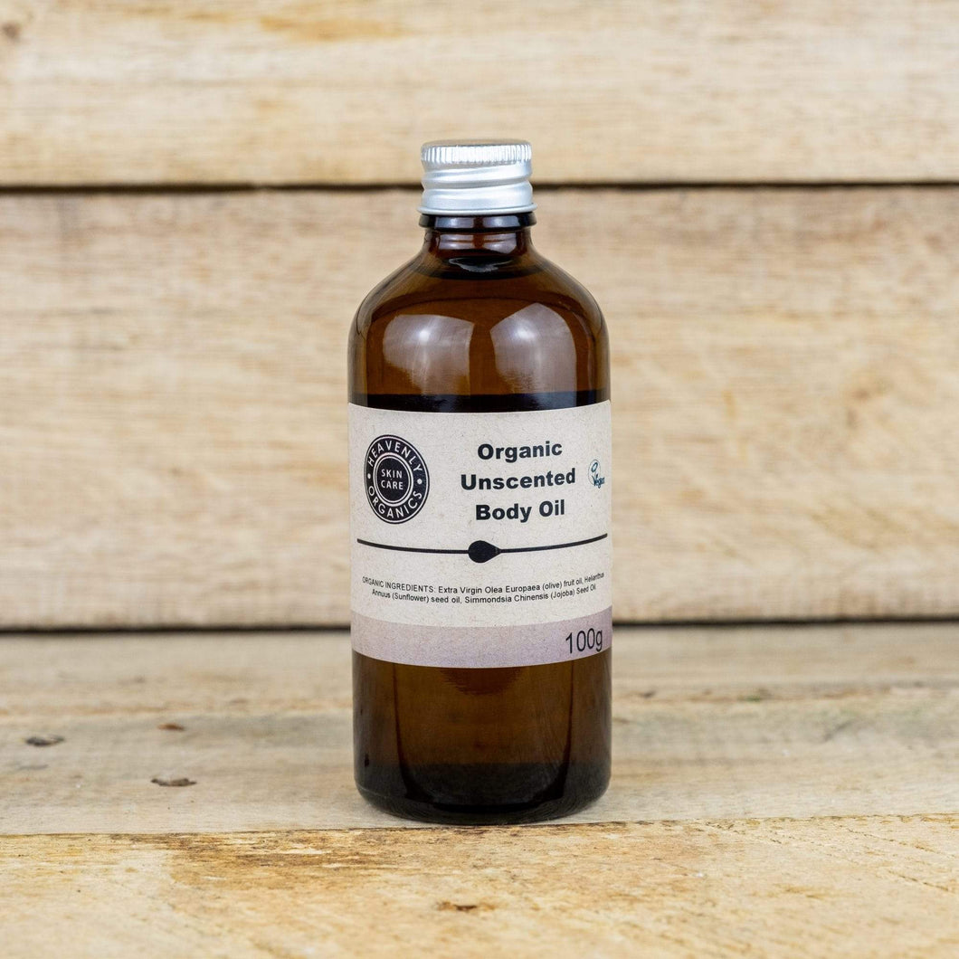 Heavenly Organics All Products Organic Unscented Body Oil