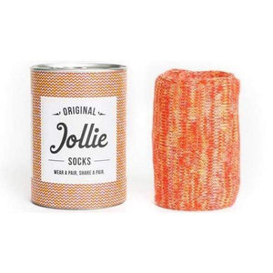 Jollie's All Products Orange Organic Cotton Twister Socks
