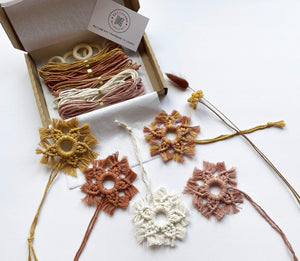 Kalicrame All Products DIY Macramé Stars Kit (set of 5)