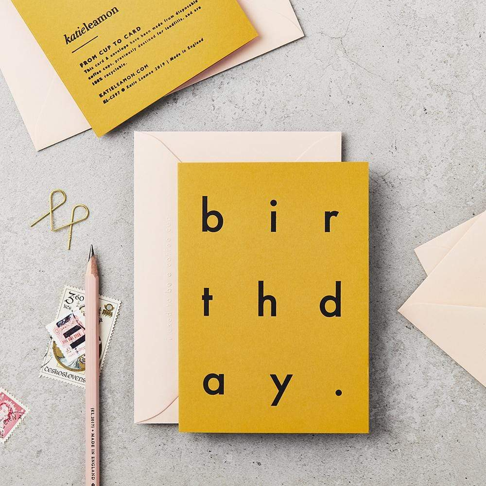 Katie Leamon All Products Extract Coffee Cup Birthday Card