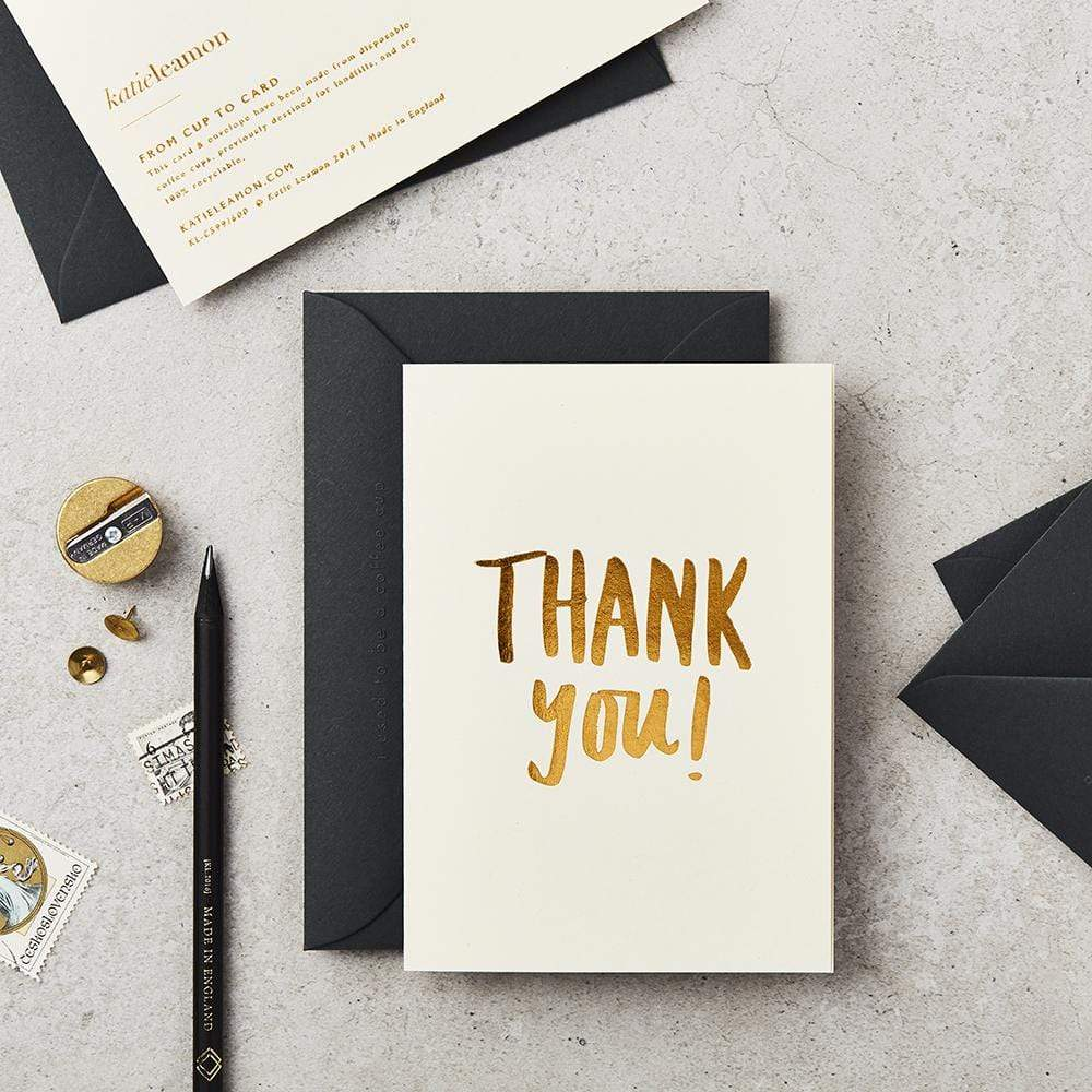 Katie Leamon All Products Extract Coffee Cup Thank You Card
