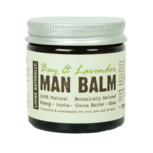 Living Naturally All Products Bay & Lavender Man Balm Moisturiser