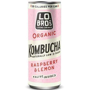 Lo Bros All Products Organic Kombucha Raspberry & Lemon