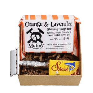 Mutiny Shaving All Products Orange & Lavender Mini Zero Waste Shaving Kit