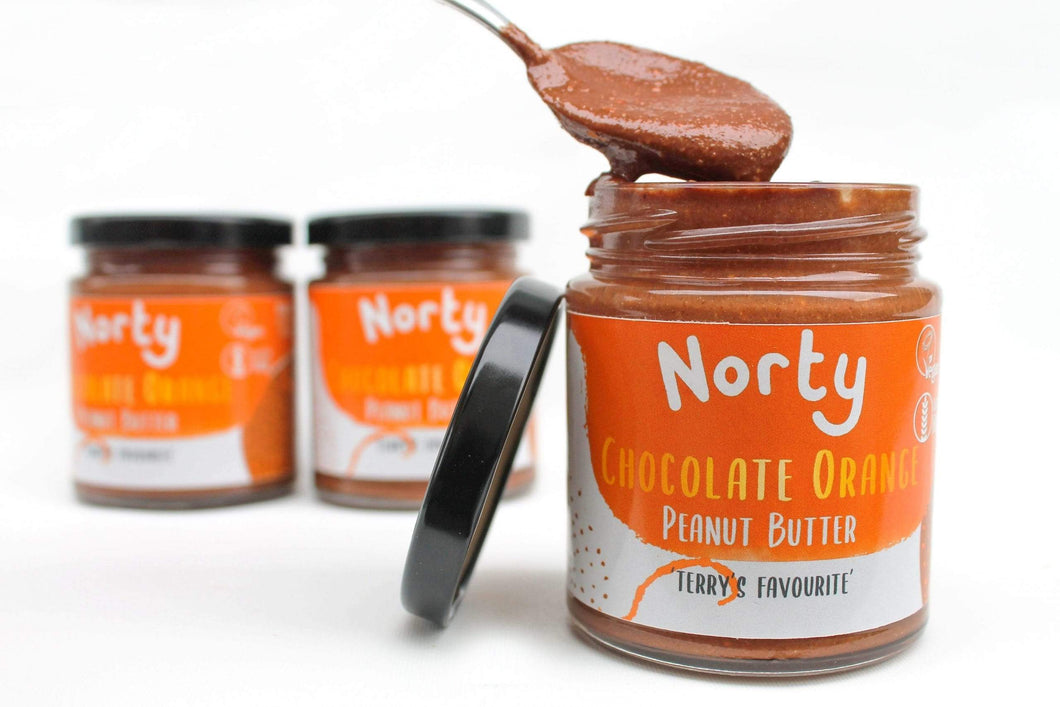 Norty All Products Chocolate Orange Peanut Butter Organic Nut Butter