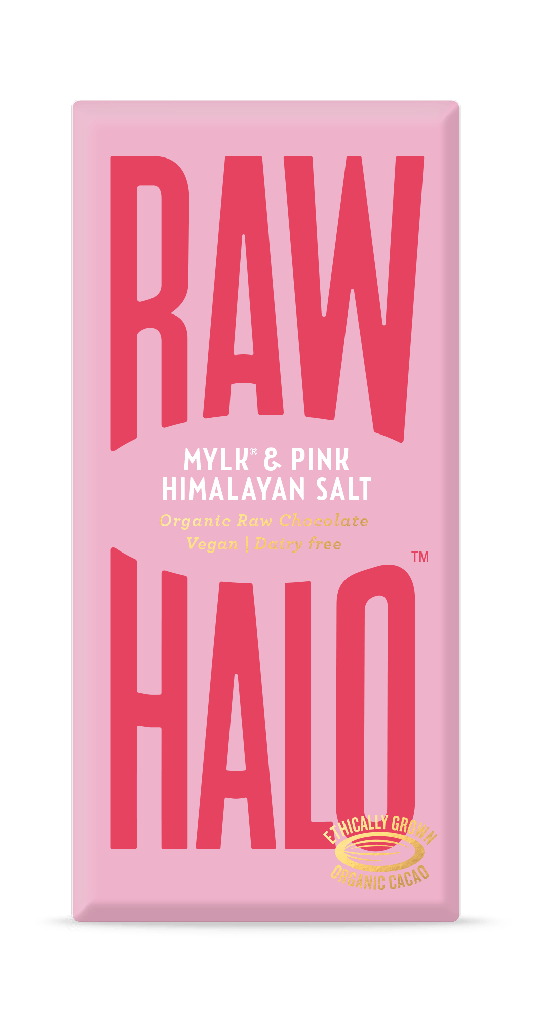 Raw Halo All Products Mylk & Pink Himalayan Salts Large Raw Halo Organic Vegan Chocolate 70g