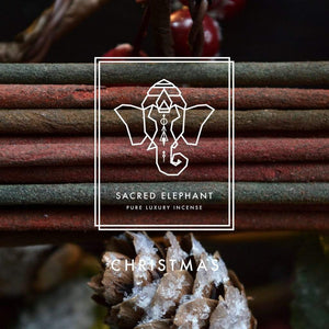 Sacred Elephant All Products Scent of Christmas Handcrafted Luxury Inspired Selections Incense (Pack of 3)