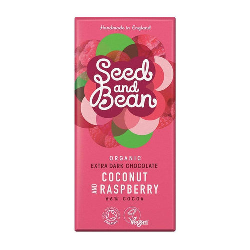 Seed & Bean All Products Coconut & Raspberry Dark Chocolate