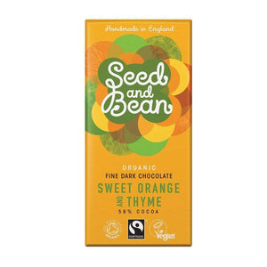 Seed & Bean All Products Sweet Orange & Thyme Dark Chocolate