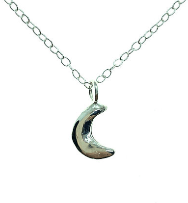 Smoke & Ash All Products 16 inch Recycled Silver Little Luna Necklace