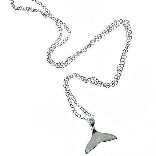 Smoke & Ash All Products 16 inch Recycled Silver Whale Tail Necklace