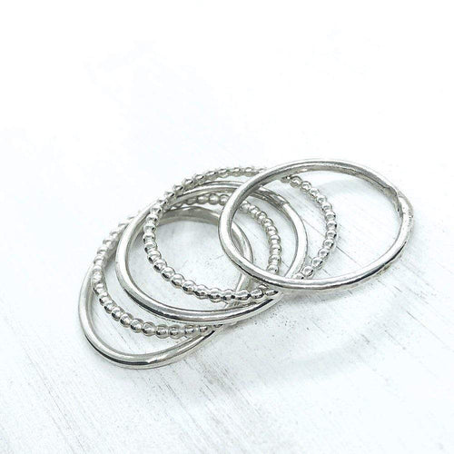 Smoke & Ash All Products Plain / E Recycled Silver Stacking Ring