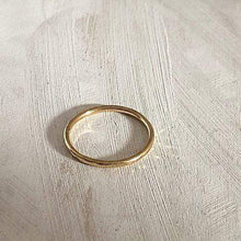 Load image into Gallery viewer, Smoke & Ash All Products Recycled Gold Stacking Ring