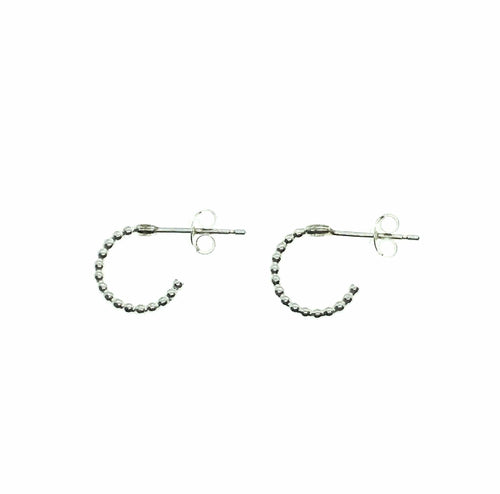 Smoke & Ash All Products Recycled Silver Bubble Huggy Hoops
