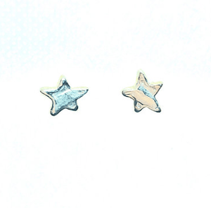 Smoke & Ash All Products Recycled Silver Little Star Earrings
