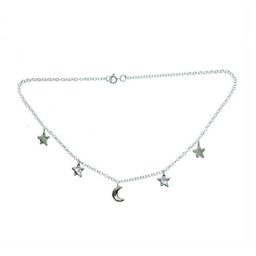 Smoke & Ash All Products Small Recycled Silver Moon & Stars Choker