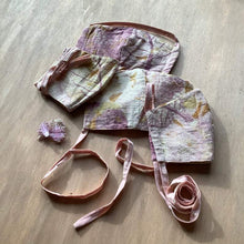 Load image into Gallery viewer, & So She Awoke All Products Rustic Pink Plant Dyed Organic Cotton Face Mask