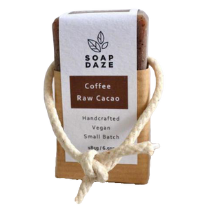 Soap Daze All Products Coffee and Raw Cacao Soap On A Rope