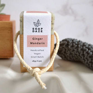 Soap Daze All Products Ginger and Mandarin Soap On A Rope