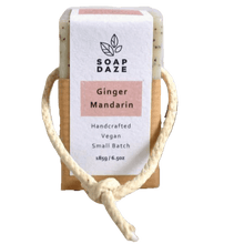 Load image into Gallery viewer, Soap Daze All Products Ginger and Mandarin Soap On A Rope