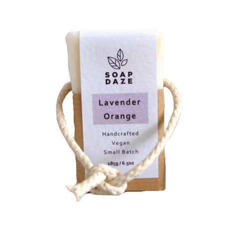 Soap Daze All Products Lavender & Orange Soap On A Rope