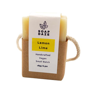 Soap Daze All Products Lemon and Lime Soap On A Rope