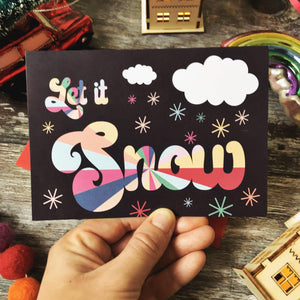 Summer Lane Studio All Products Let It Snow Recycled Christmas Card