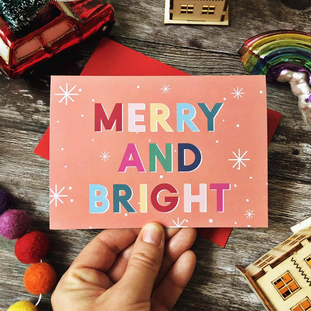 Summer Lane Studio All Products Merry & Bright Recycled Christmas Card
