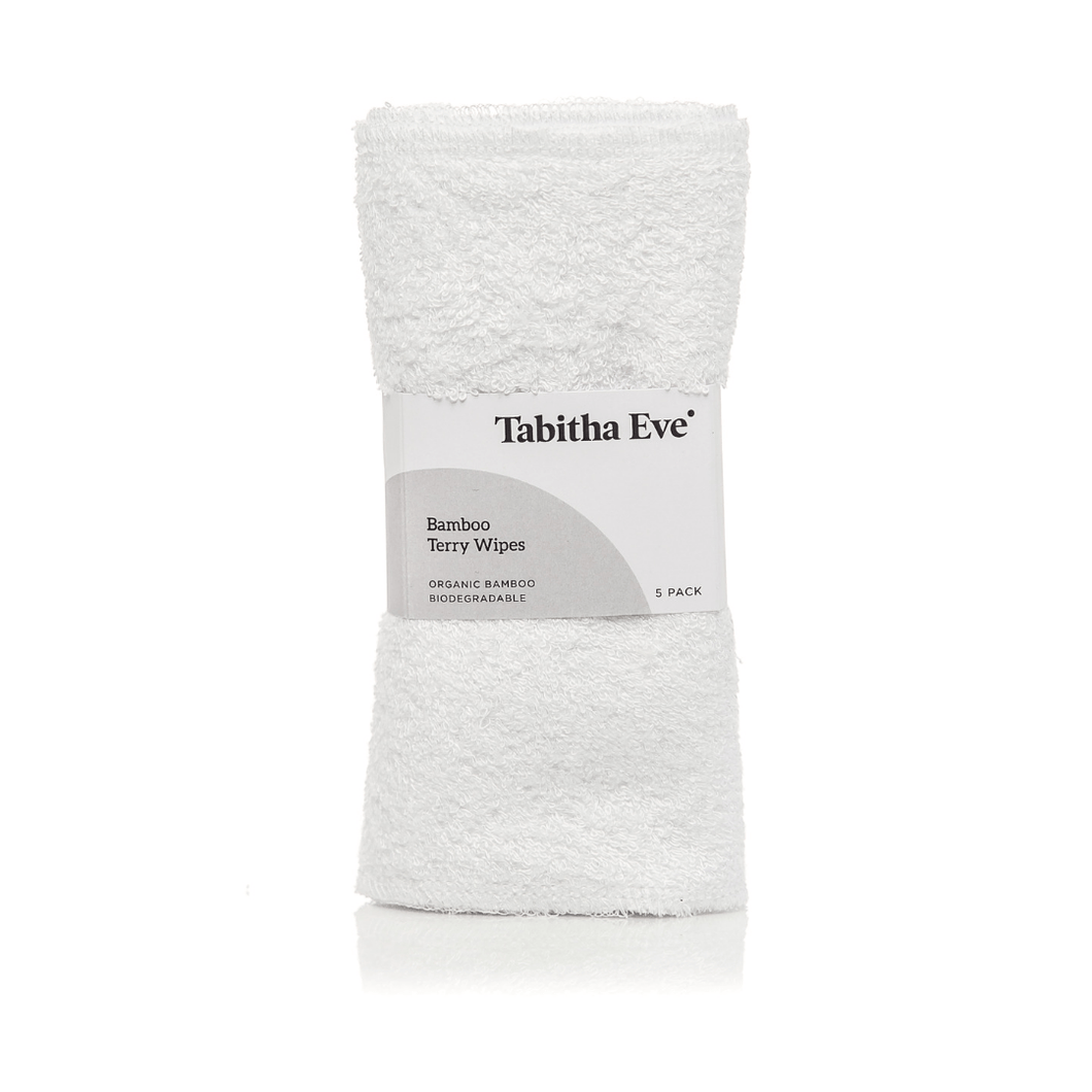 Tabitha Eve All Products Bamboo Terry Wipes (x5)