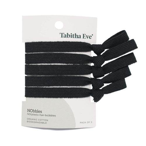 Tabitha Eve All Products Black Organic Cotton Hair Ties