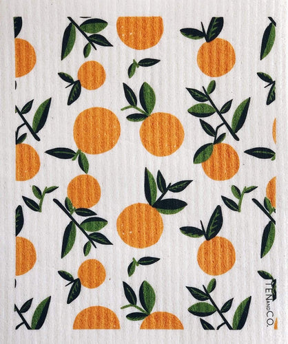 Ten & Co All Products Vintage Orange Compostable Sponge Cloth