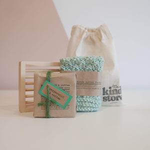 The Kind Store All Products Green Natural Soap Gift Bag