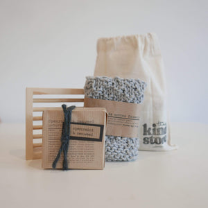 The Kind Store All Products Grey Natural Soap Gift Bag