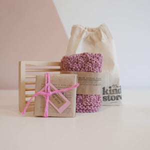 The Kind Store All Products Pink Natural Soap Gift Bag