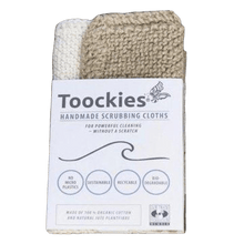 Load image into Gallery viewer, Toockies All Products Organic Cotton & Jute Scrubbing Cloths