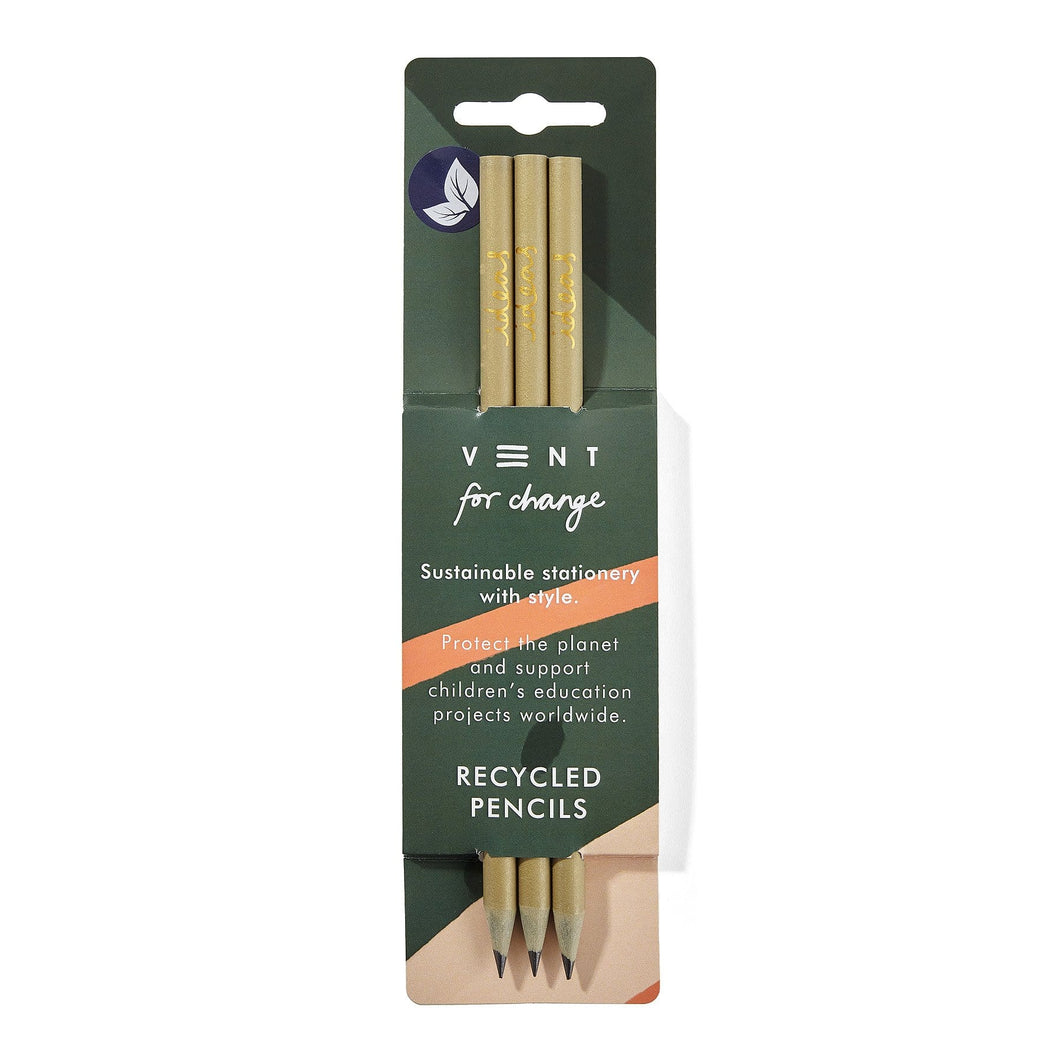Vent For Change All Products Recycled CD Case Ideas Pencil Pack - Green